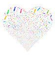 exclamation sign fireworks heart vector image vector image