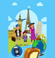 family traveling together vector image vector image