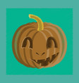 Flat shading style icon halloween pumpkin emotions