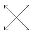 Four arrows icon on white background flat style