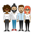 friends people happy together icon vector image