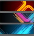 Futuristic banners vector image vector image