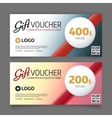 Gift voucher template graphic design vector image