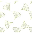Ginkgo biloba pattern seamless Silhouette of vector image vector image