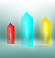 glass arrow with text vector image vector image
