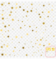 gold confetti gold stars on white background vector image vector image
