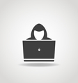 Hacker icon vector image