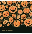 Halloween pumpkins horizontal border seamless vector image