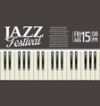 jazz festival background 2 vector image