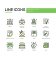 Justice - line design icons set vector image vector image