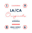 la ca california slogan graphic typography vector image vector image