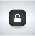 lock icon app button isolated on white background vector image vector image