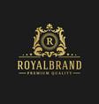 luxury logo design template vector image vector image
