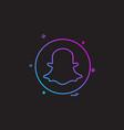 media network social snapchat icon design vector image