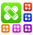 medical patch set collection vector image vector image
