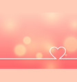 minimal heart design on soft pink background vector image vector image