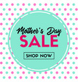 mothers day sale banner shop now vector image vector image