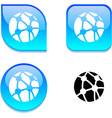 Network glossy button vector image vector image