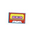 retro audio cassette cartoon pop art icon sketch vector image vector image