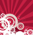 Retro red background vector image vector image