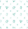 rooster icons pattern seamless white background vector image vector image