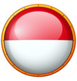 round badge with indonesia flag vector image vector image