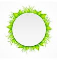 Round icon with green grass on white vector image vector image