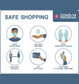 safe shopping in public places vector image vector image