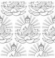 seamless pattern buddha and lotus vector image vector image