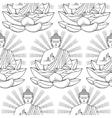 Seamless Pattern of Buddha and Lotus vector image vector image
