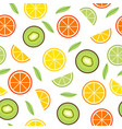 seamless pattern with orange and kiwi vector image vector image