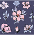 seamless romantic floral pattern on a tender vector image