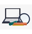 search laptop learn ruler pencil vector image