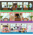 set of shop concept posters banners in vector image