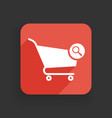 shopping cart icon with research sign vector image