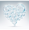 sign of love bubble soap vector image