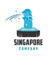 singapore landmark logo design vector image vector image