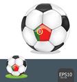 soccer ball portugal euro flag vector image