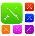 swords set collection vector image