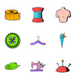 tailoring icons set cartoon style vector image vector image