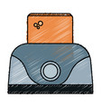 toaster bread electric icon vector image