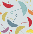 Umbrella seamless pattern Many of colour opened vector image