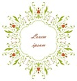 Vintage round ornament vector image vector image