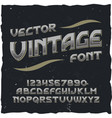 vintage typeface vector image vector image