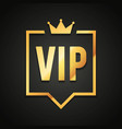 vip club label with crown in modern speech bubble vector image