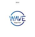 wave logo design minimalist and elegant concept vector image vector image