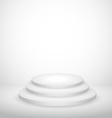 white empty background with podium vector image vector image