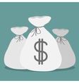 Three bags with dollar sign Icon vector image