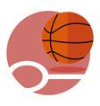 basketball game emblem sport graphic vector image