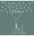 people fall into the funnel vector image